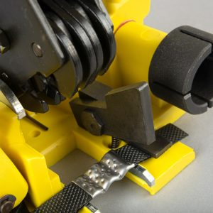 Clamp for PP strap clips